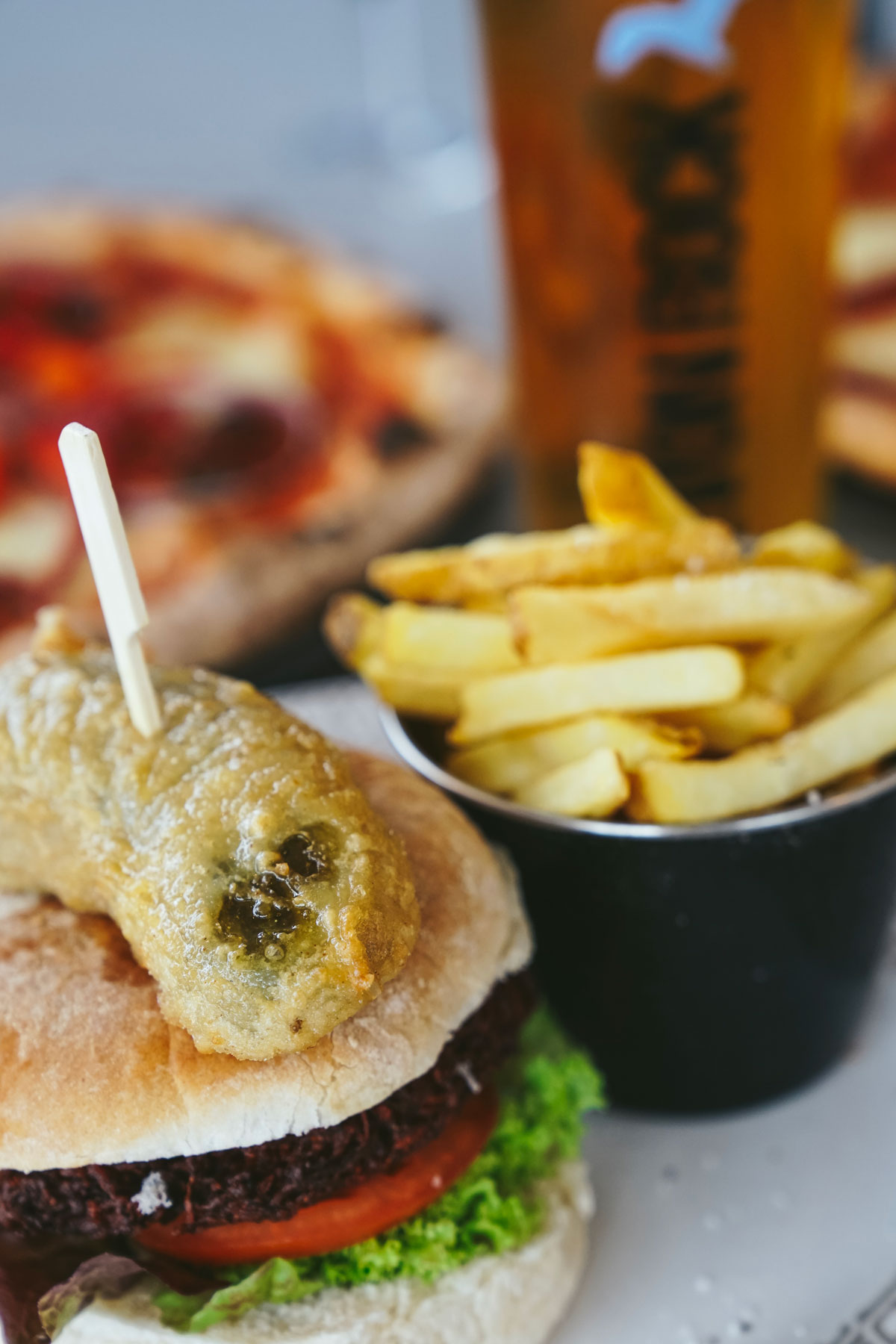 Vegetarian Burger | Shoreline at Paignton Beach